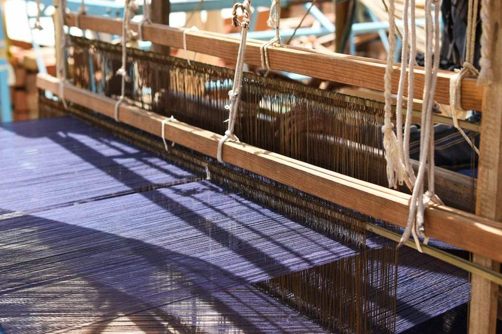 Weaving loom at Iro Iro