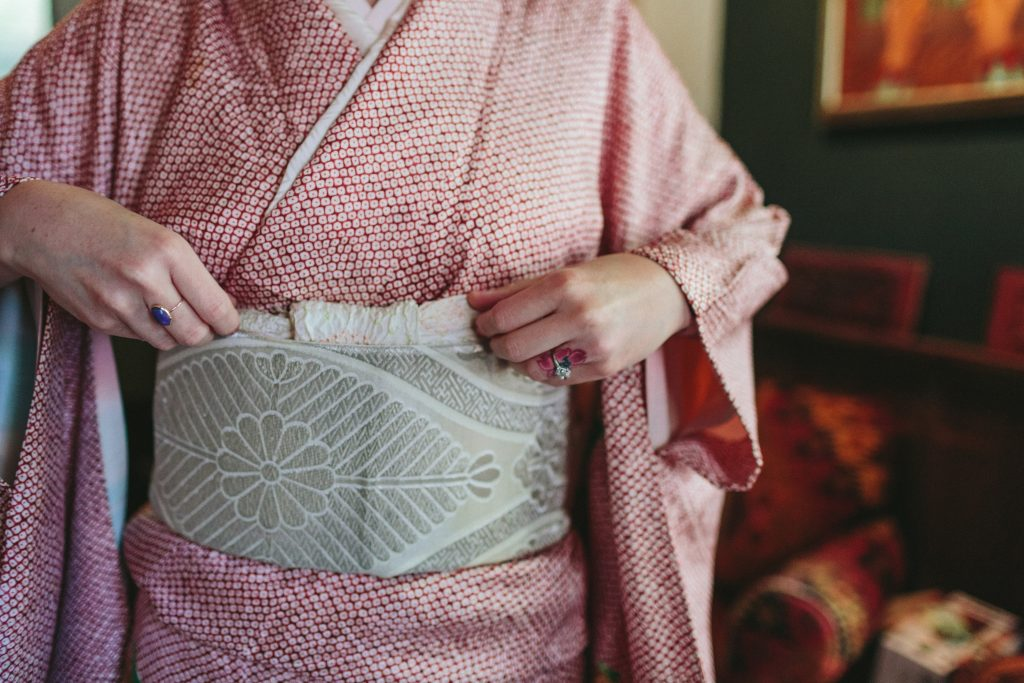 Emi Ito in a Kimono on her wedding day