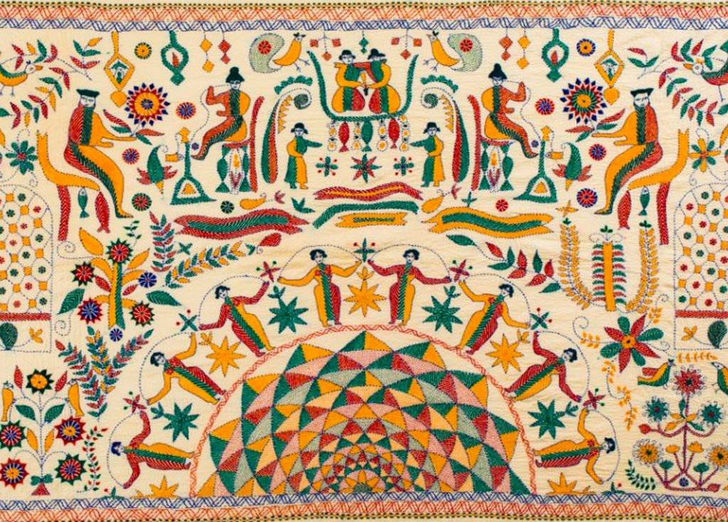 Kantha Stitching Embroidery