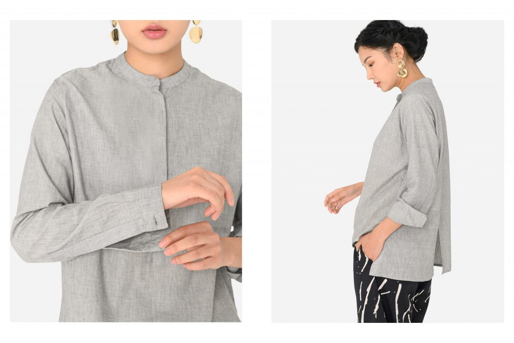 MATTER Prints Split Back Mandar Shirt