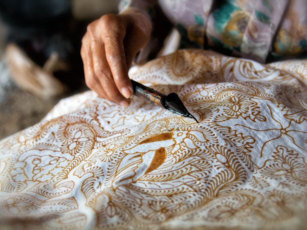 Traditional batik process